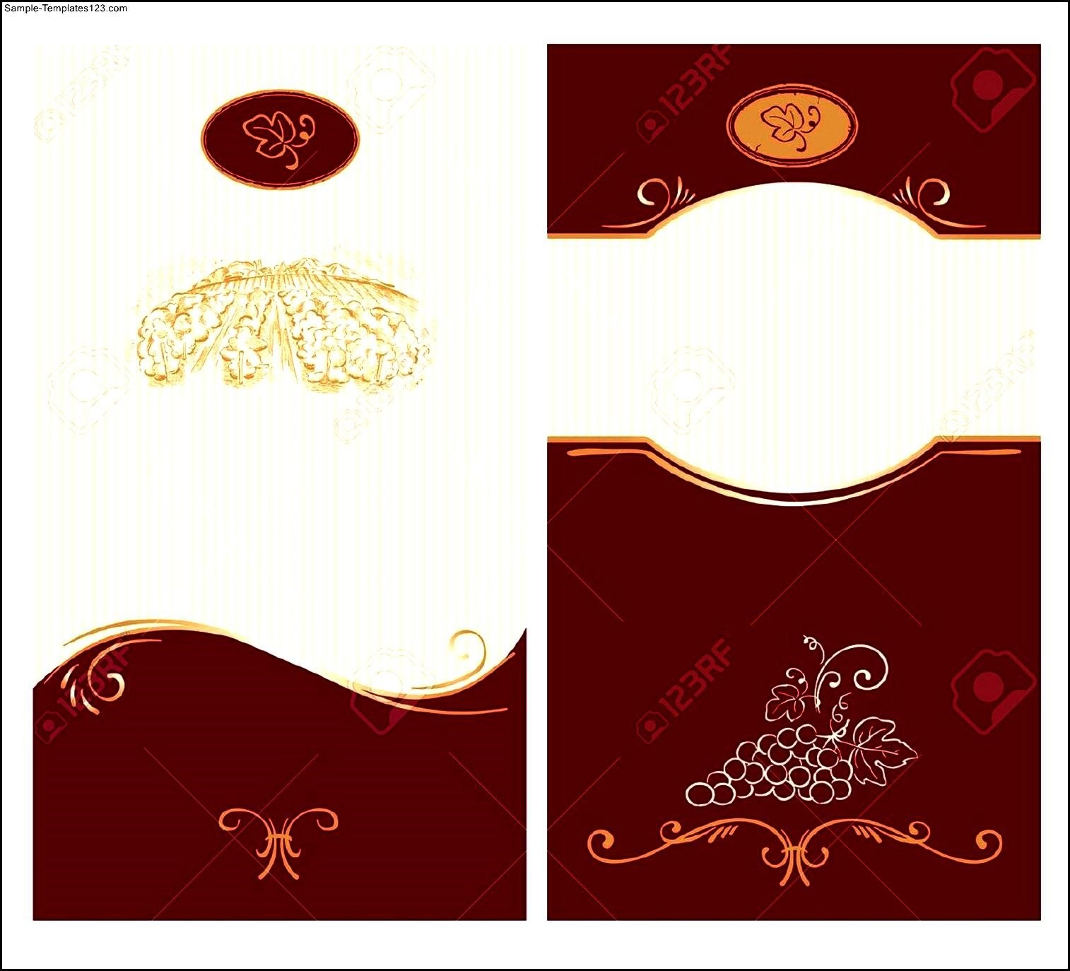 Wine Label Template Sample Blank Labels Templates Free Singular Within Blank Wine Label Template