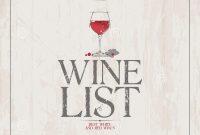 Wine List Menu Template Stock Vector Illustration Of List in Free Wine Menu Template