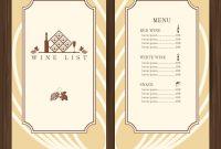 Wine Menu Template Royalty Free Vector Image  Vectorstock intended for Free Wine Menu Template