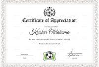 Women Football Appreciation Certificate Design Template In Psd Word throughout Football Certificate Template