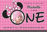 Wonderful Minnie Mouse Birthday Invitation Card Design Template In inside Minnie Mouse Card Templates