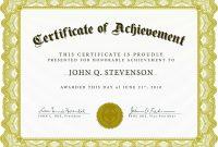 Word Award Template Printable Rental Agreement Lease Certification for Word Template Certificate Of Achievement