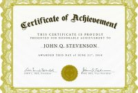 Word Award Template Printable Rental Agreement Lease Certification throughout Certificate Of Achievement Template Word