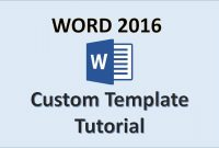 Word   Creating Templates  How To Create A Template In Ms regarding How To Save A Template In Word