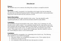 Word Lab Report Template Example – Wfacca intended for Lab Report Template Word