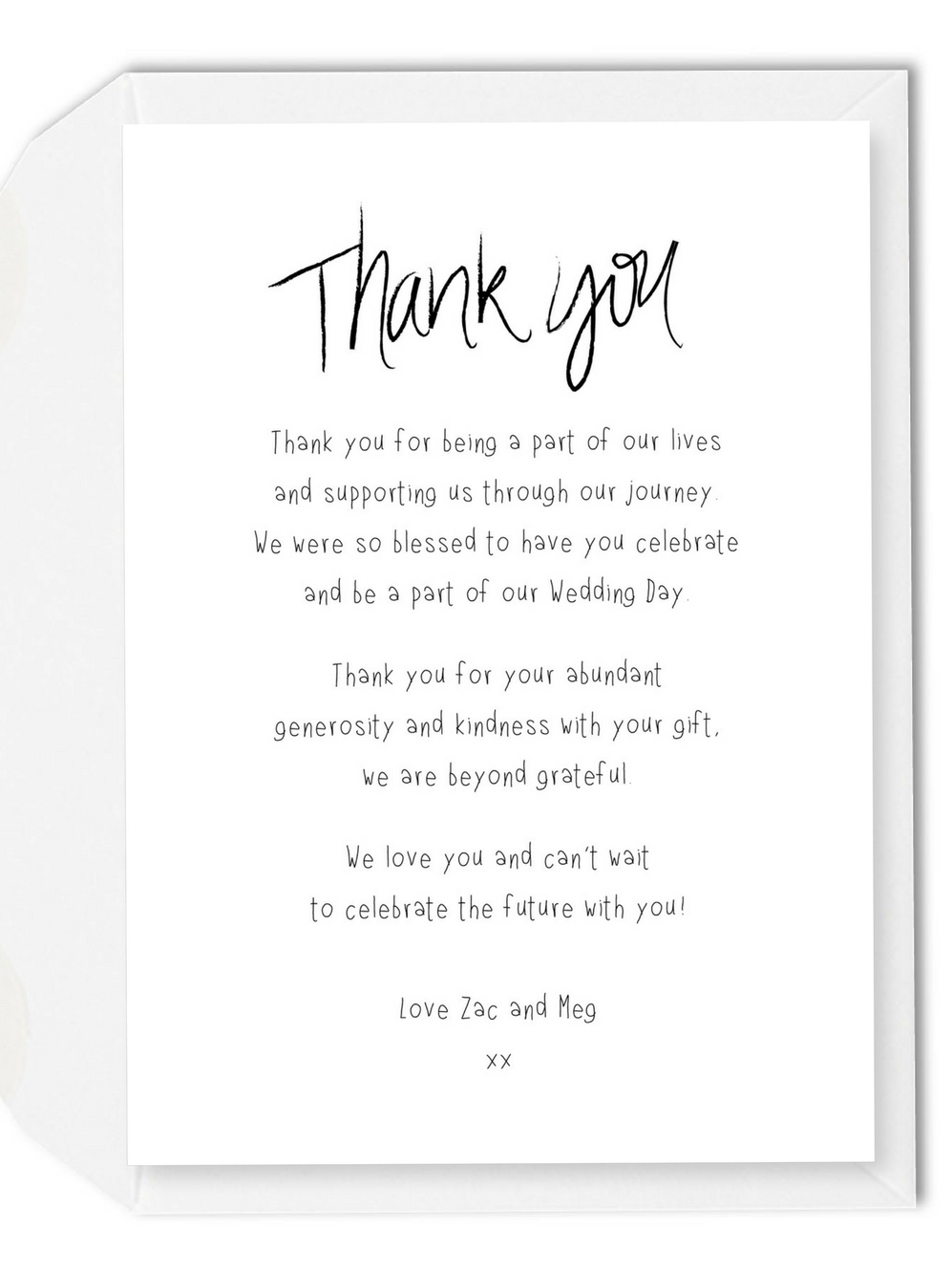 Wording Ideas For Your Wedding Thank You Cards – For The Love Of With Regard To Template For Wedding Thank You Cards