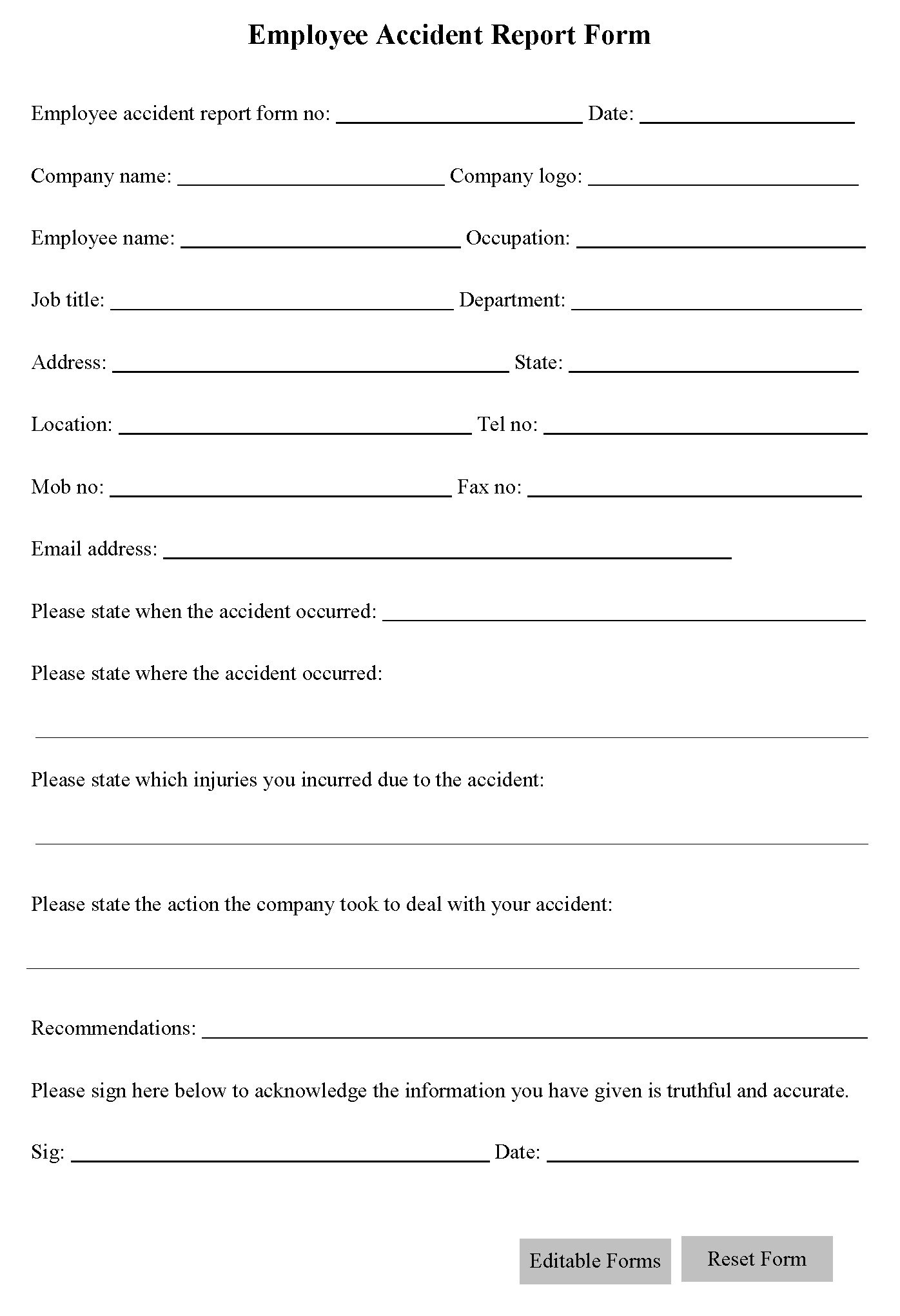 Work Place Accident Report Form Coloring Pages For Kids Plate In Vehicle Accident Report Template
