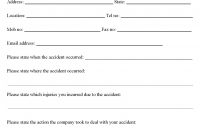 Work Place Accident Report Form Coloring Pages For Kids Plate intended for Vehicle Accident Report Form Template