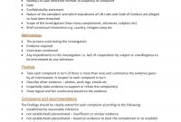 Workplace Investigation Report Examples  Pdf  Examples inside Workplace Investigation Report Template