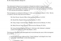 Workplace Investigation Report Examples  Pdf  Examples pertaining to Sexual Harassment Investigation Report Template