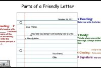 Writing A Friendly Letter Example For Kids Format inside Blank Letter Writing Template For Kids