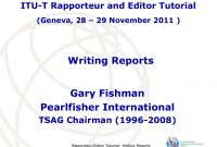 Writing Reports Gary Fishman Pearlfisher International Itut pertaining to Rapporteur Report Template