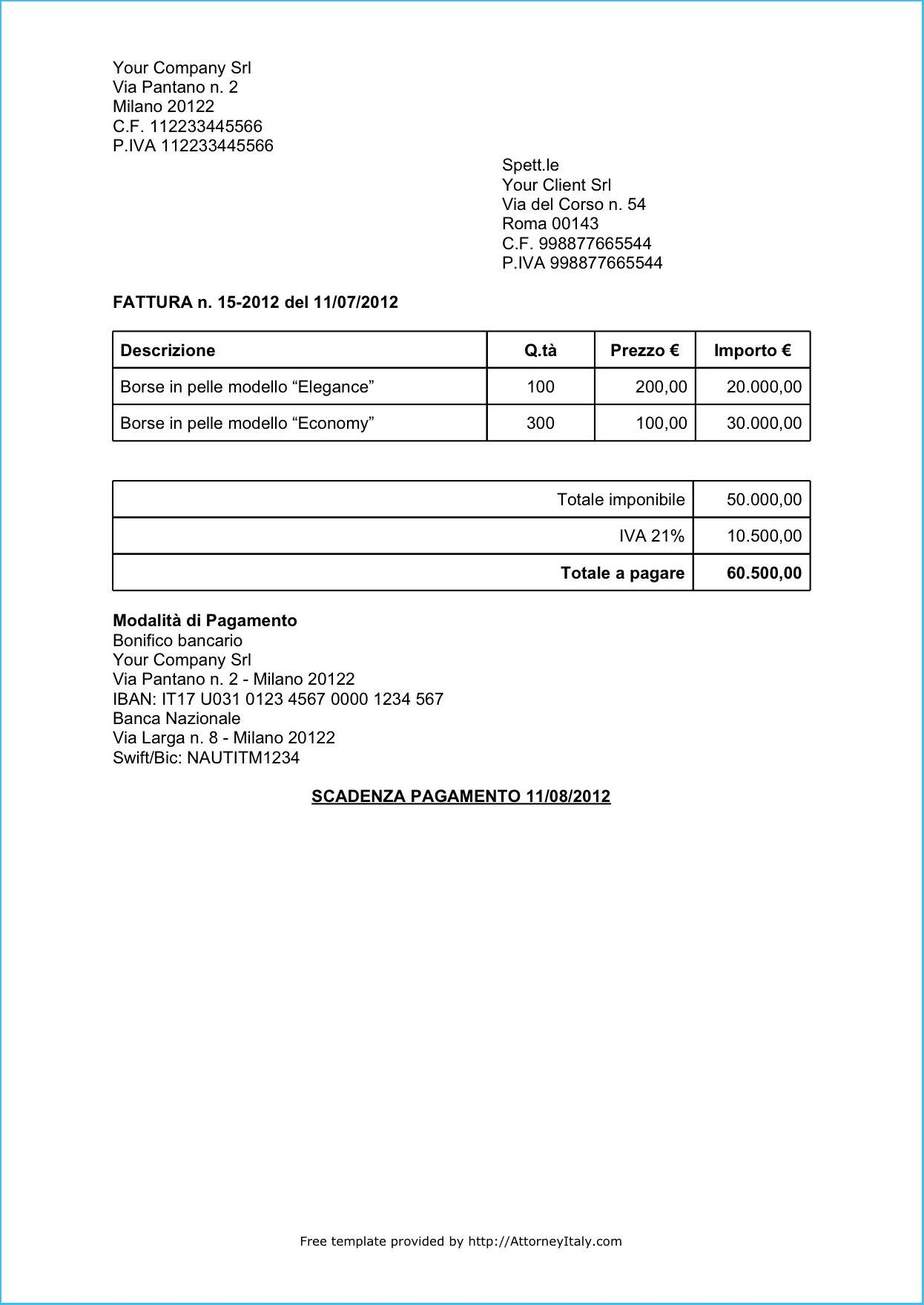 Written Invoice Template With Regard To Written Invoice Template