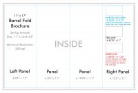 """ X "" Barrel Fold Brochure Template  Us Press with regard to 4 Fold Brochure Template"