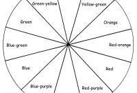X Color Wheel Activity Sheet Color Wheel Template Printable with Blank Color Wheel Template