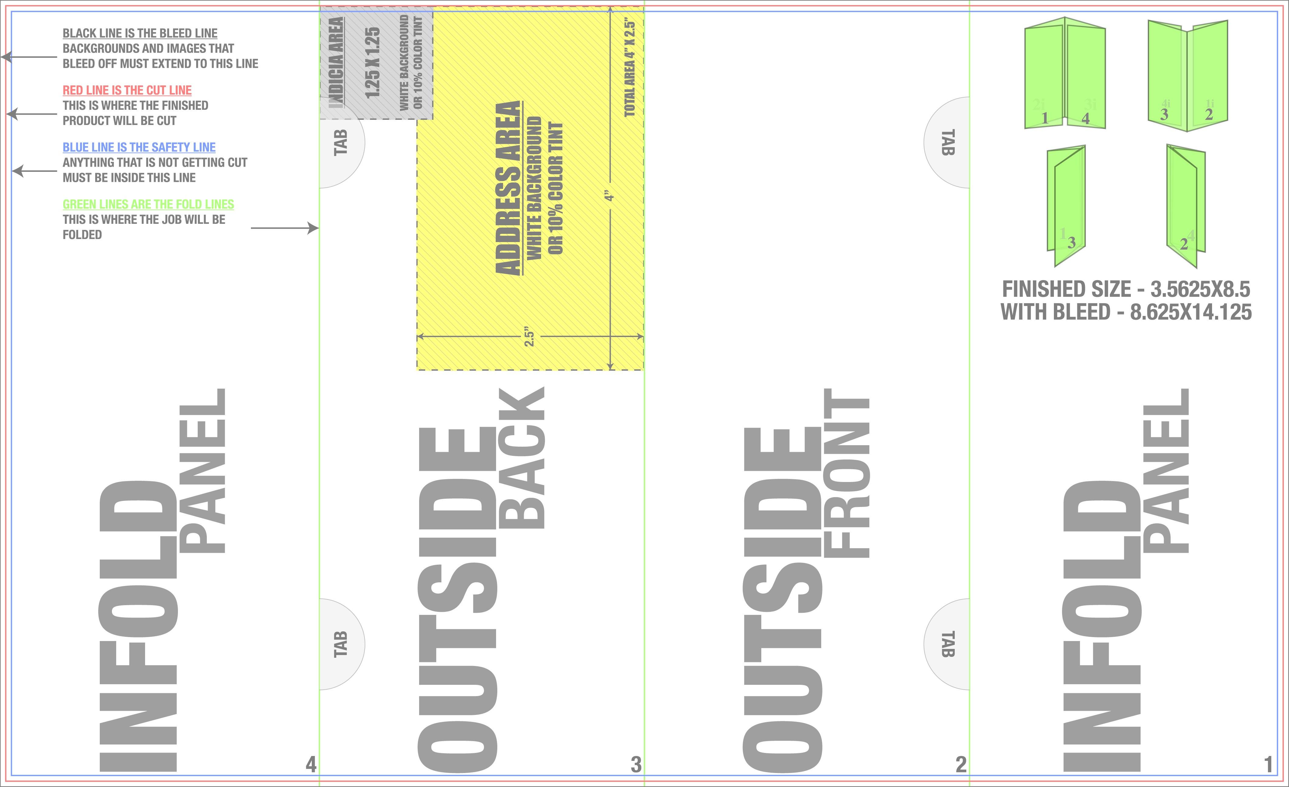 X Doublegatefold Mailing Gate Fold Brochure Template In Gate Fold Brochure Template Indesign
