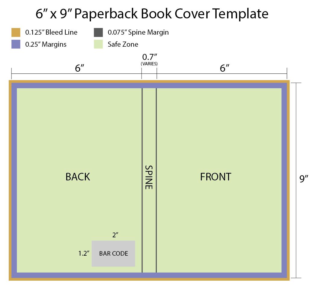 X Paperback Book Cover Template  Scrapbook  Free Book Cover Intended For 6X9 Book Template For Word
