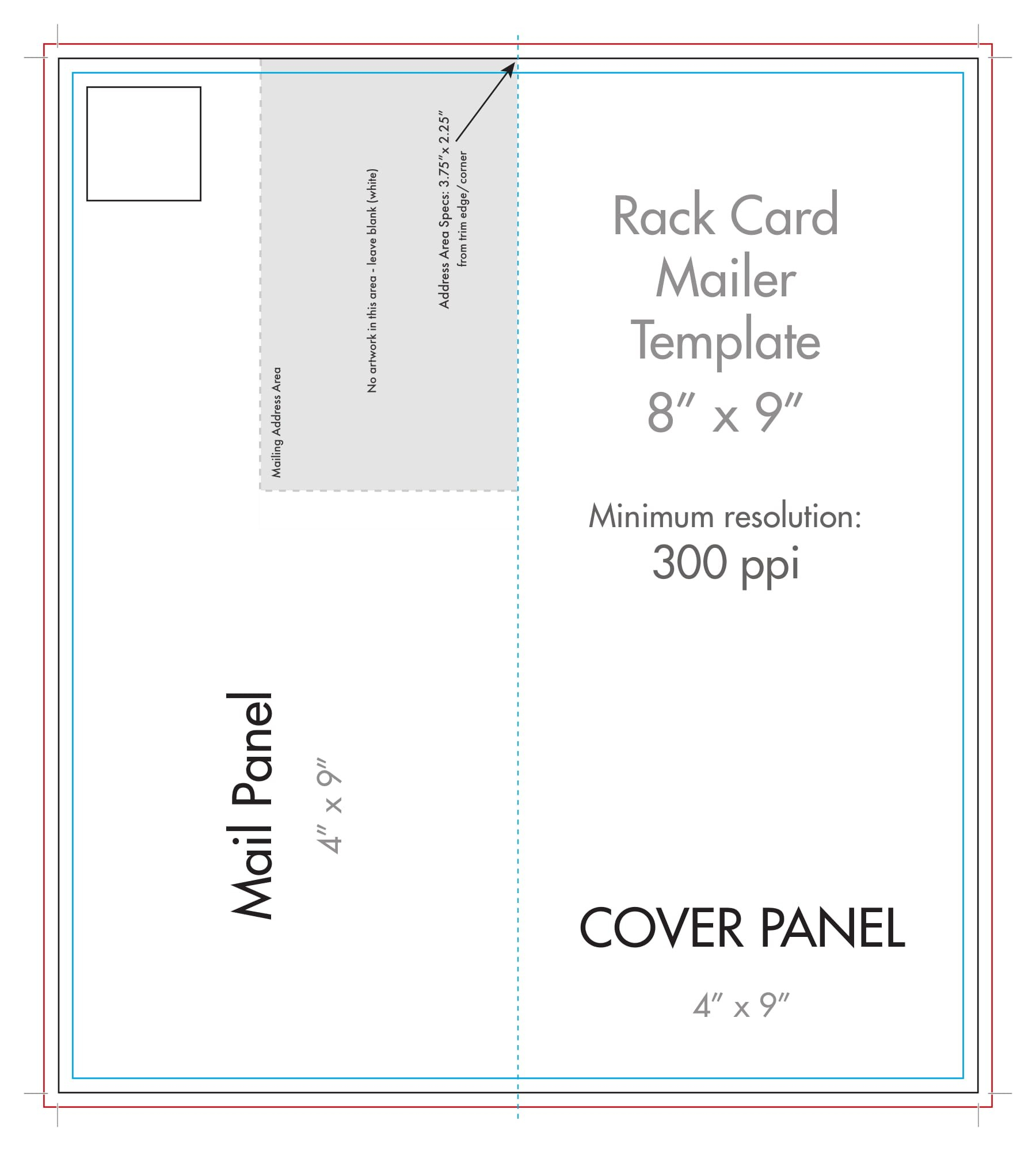 """ X "" Rack Brochure Template Half Fold  Us Press Pertaining To Half Page Brochure Template"