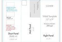 """ X "" Rack Brochure Template Tri Fold  Us Press in 4 Panel Brochure Template"