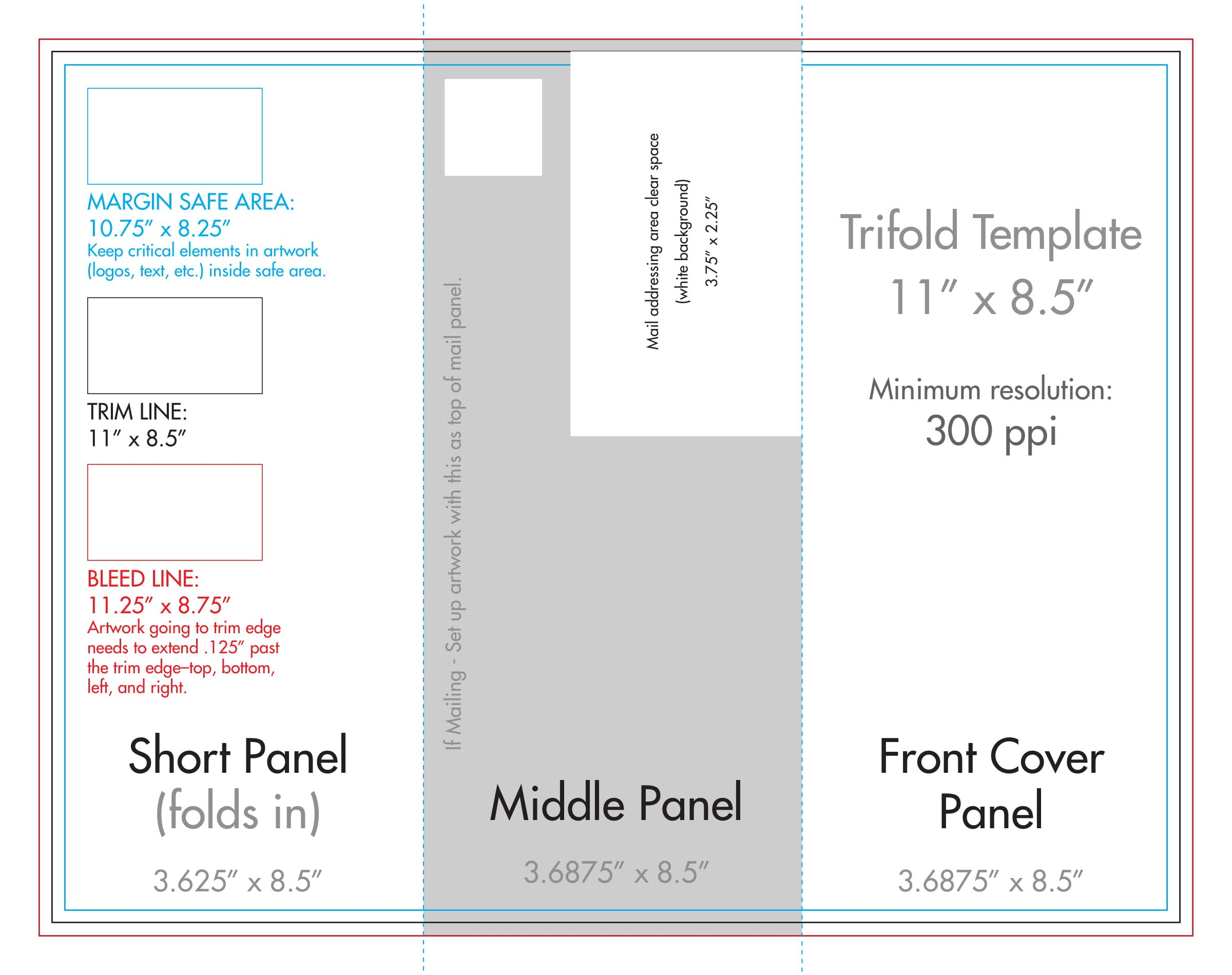 """"""" X """" Tri Fold Brochure Template  Us Press Intended For 8.5 X11 Brochure Template"""
