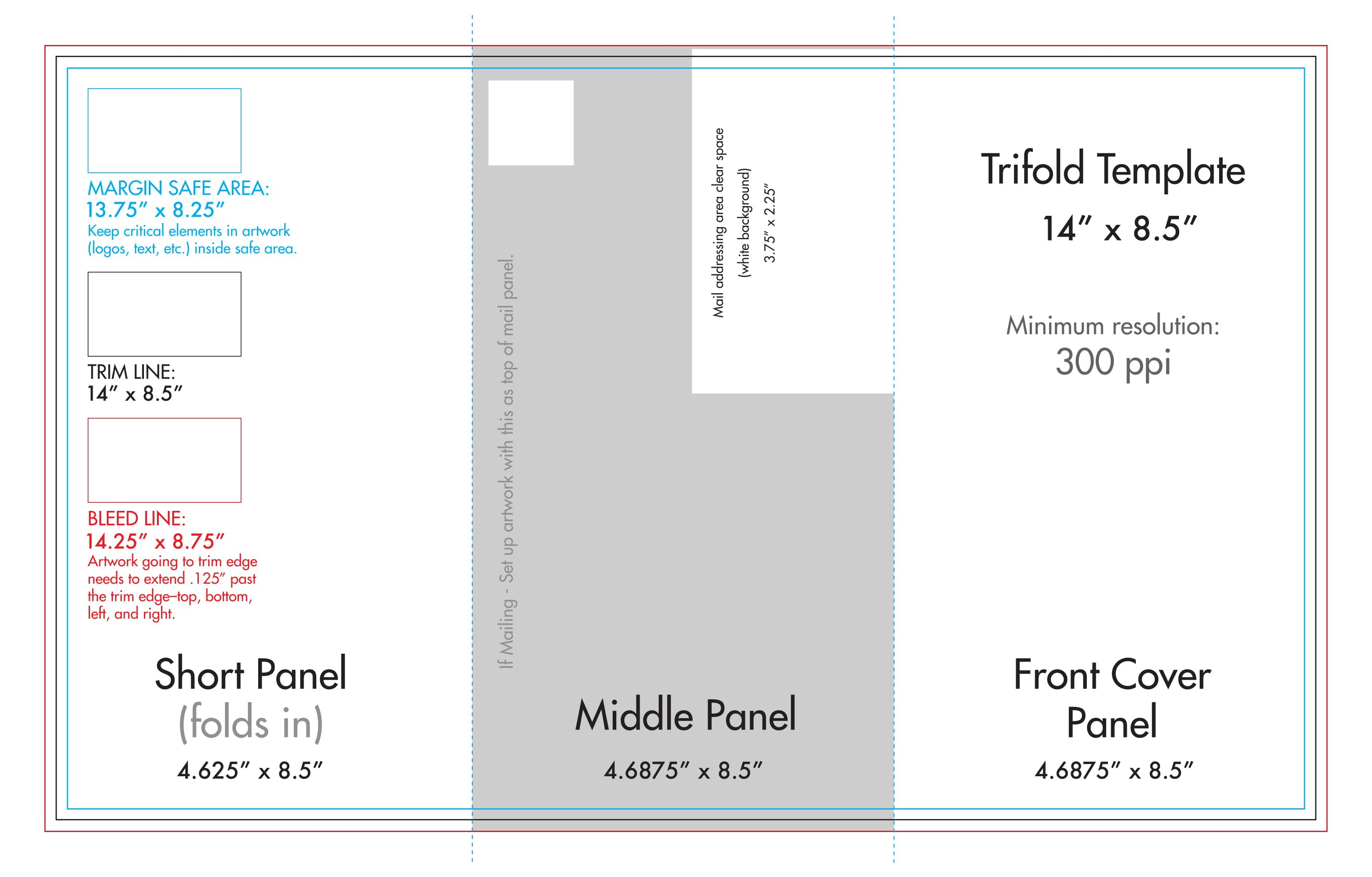 """ X "" Tri Fold Brochure Template  Us Press With Brochure 4 Fold Template"