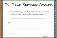 Years Of Service Award Certificate Templates  Template regarding Certificate For Years Of Service Template