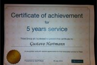 Years Of Service Certificate Template Free New Long Service Award pertaining to Long Service Certificate Template Sample