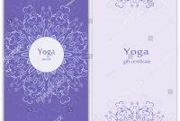 Yoga Gift Certificate Vector Template Mandala Stock Vector Royalty in Yoga Gift Certificate Template Free