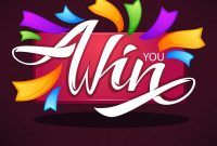 You Win Congratulation Banner Template With Vector Image in Congratulations Banner Template