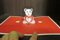 Yuenie's Fancies  Handmade Quilled Pop Up Cards Bookmarks Gifts for Teddy Bear Pop Up Card Template Free