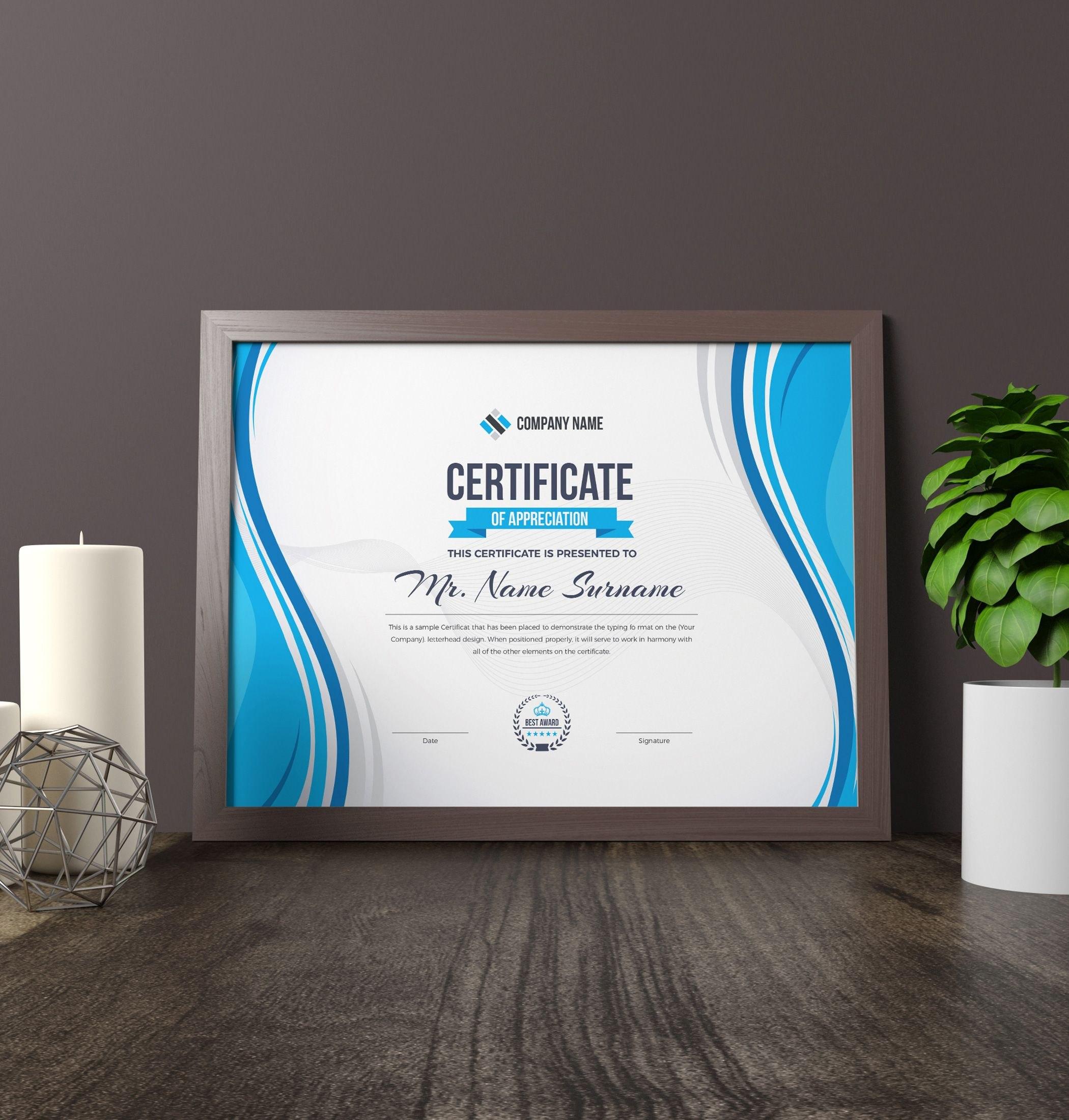 Zeus Landscape Certificate Template  Certificates  Certificate In Landscape Certificate Templates