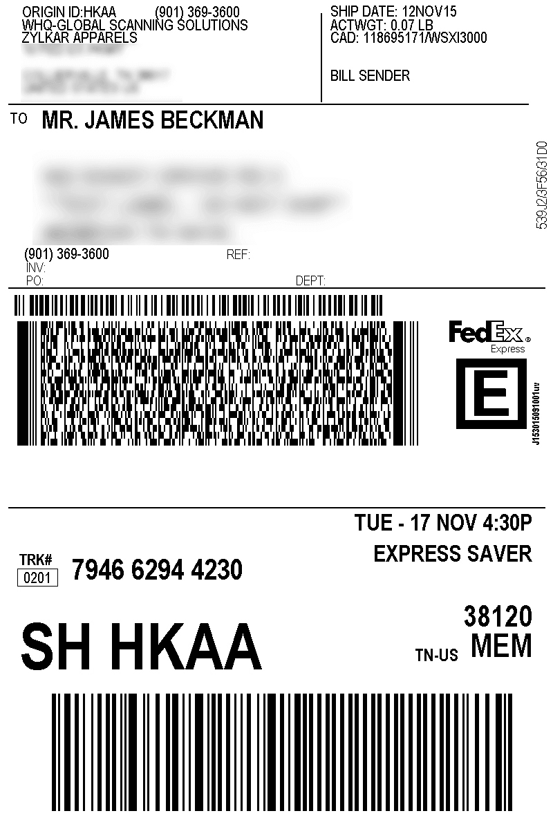 Zoho Inventory  Shipments Throughout Package Shipping Label Template