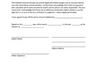 A Sample Of Iou Letter  Fill Online Printable Fillable Blank throughout Iou Letter Template