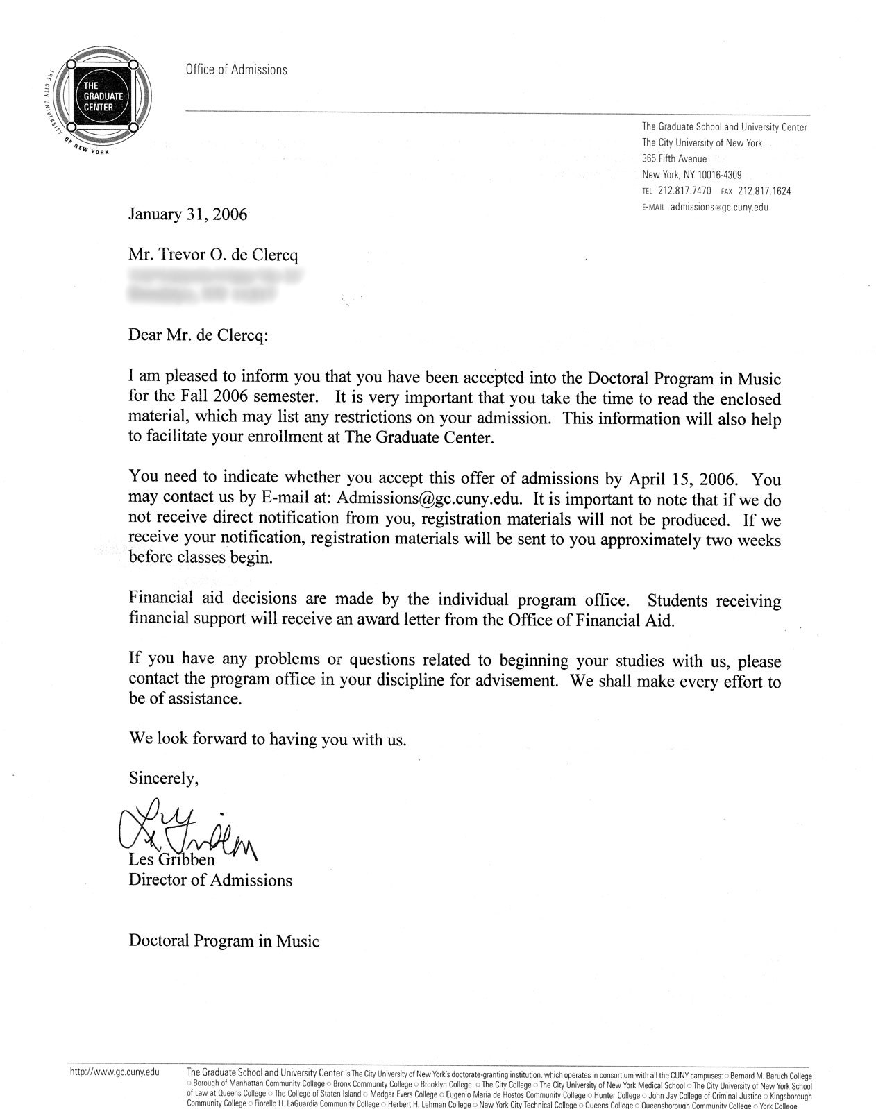 Admission Letter Examples  Resume Pdf Regarding College Acceptance Letter Template
