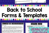 Back To School Forms  Teacher Introduction Letter Template intended for Meet The Teacher Letter Template
