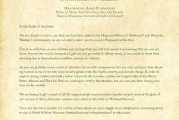 Beautiful Hogwarts Acceptance Letter Envelope Template Printable with Harry Potter Acceptance Letter Template
