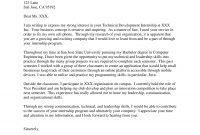 Best Cover Letter Samples For Internship  Wisestep in Internship Cover Letter Template