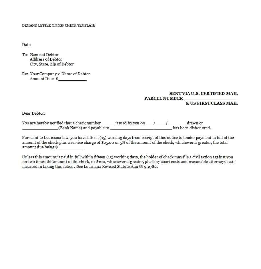 Best Demand Letter Templates Free Samples ᐅ Template Lab For Notice Of Default Letter Template