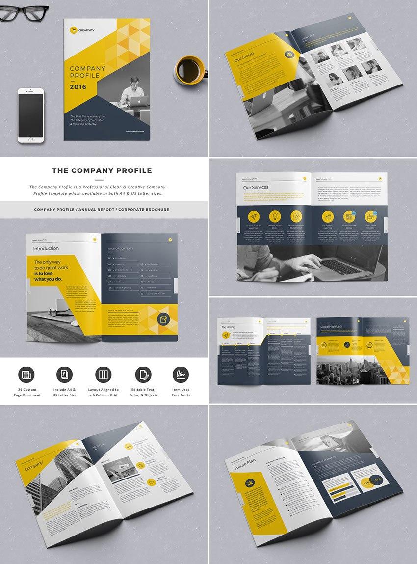 Best Indesign Brochure Templates  Creative Business Marketing Inside Indesign Presentation Templates