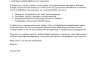 Best Personal Services Cover Letter Examples  Livecareer throughout Client Care Letter Template