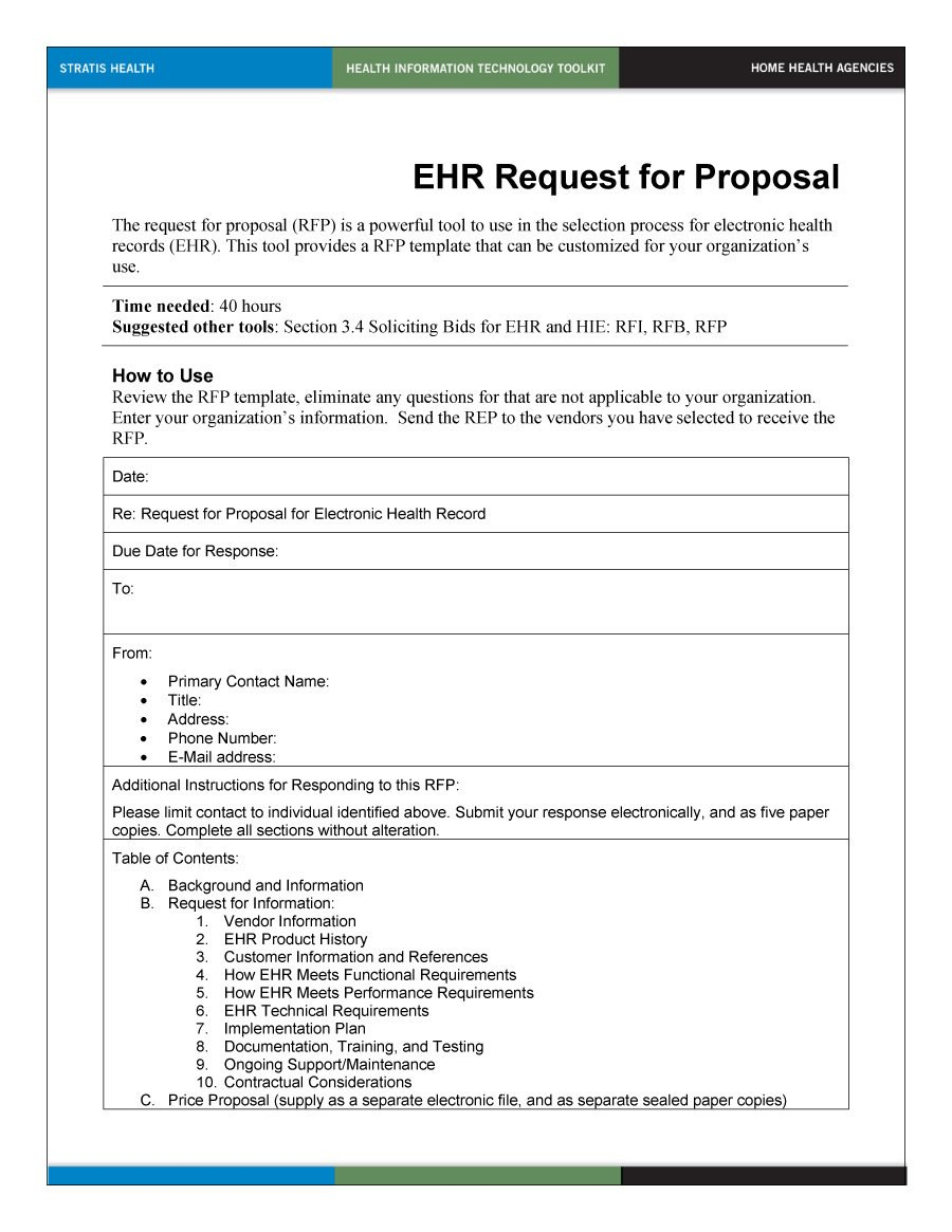 Best Request For Proposal Templates  Examples Rpf Templates Pertaining To Request For Proposal Template Word