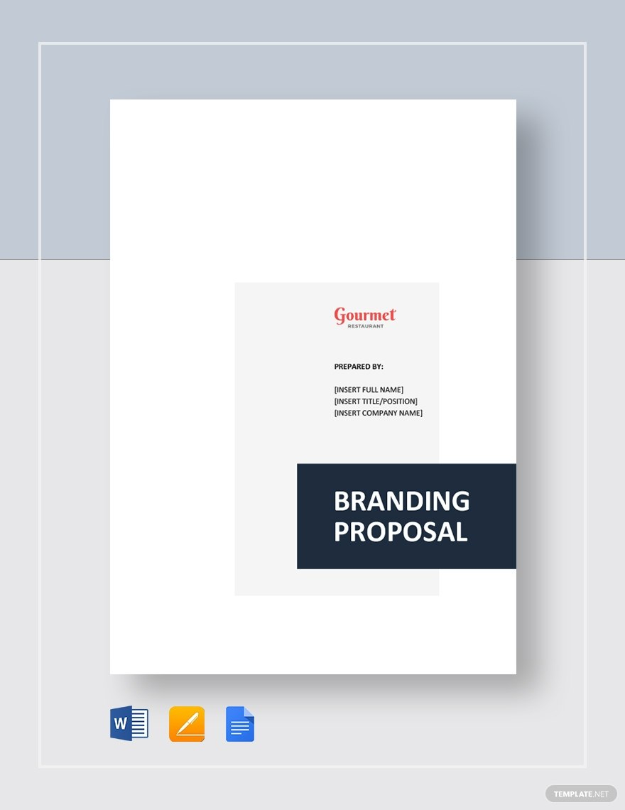 Best Restaurant Branding Proposals  Google Docs Ms Word Pages Throughout Branding Proposal Template