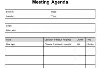 Blank Meeting Agenda Ate Free Download Daily Printable Planning intended for Blank Meeting Agenda Template