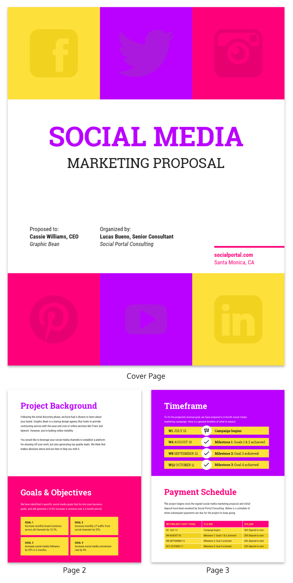 Bold Social Media Consulting Proposal Template Template  Venngage In Social Media Proposal Template