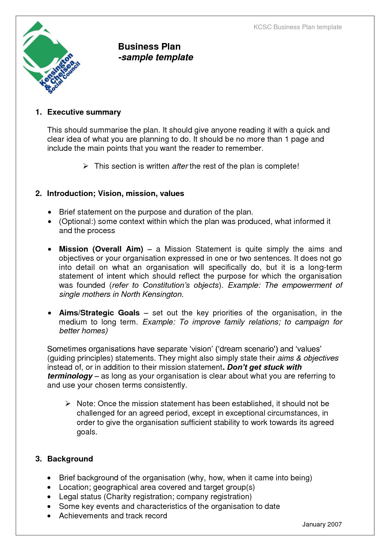 Business Templates Exles Business Plan  Desert Loft  Business Regarding Sample Business Proposal Template