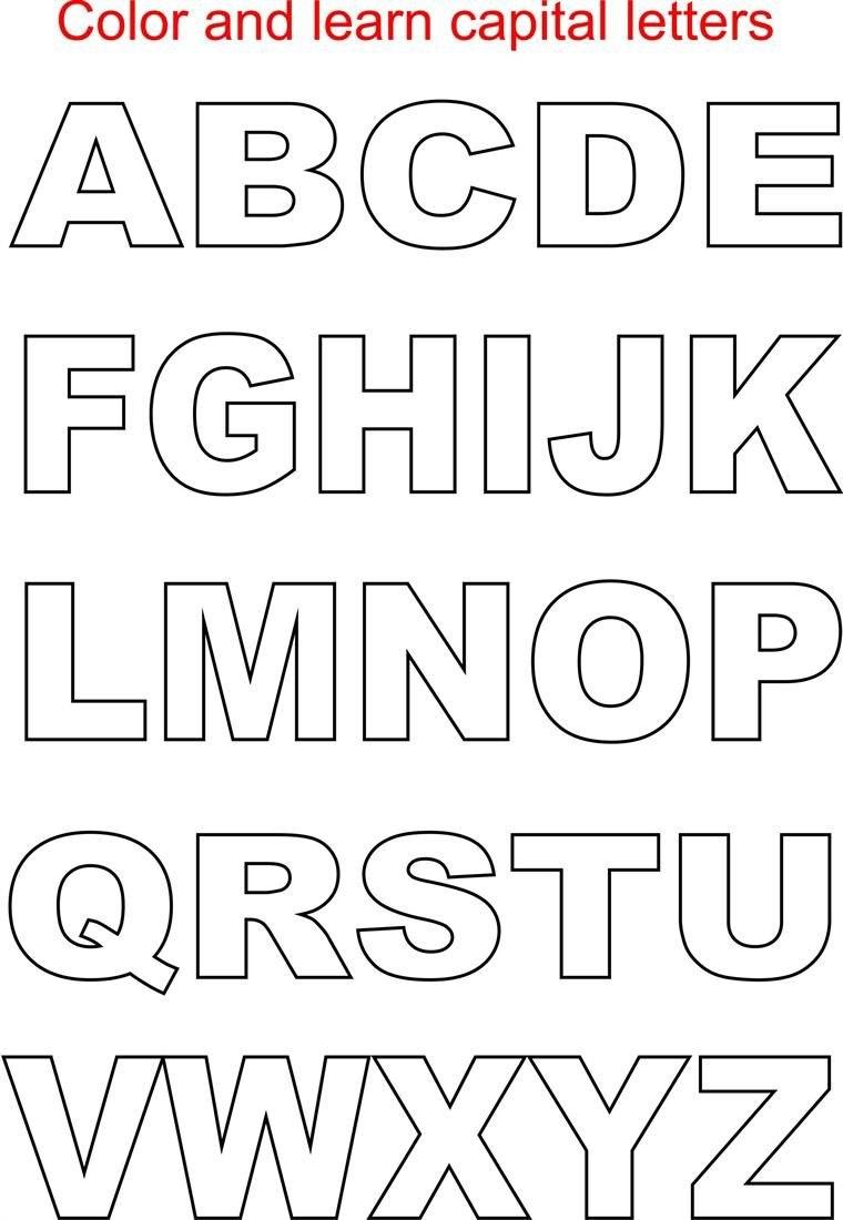 Capital Letter Alphabet Kids  Lettering  Alphabet Templates Regarding Large Letter Templates