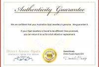 Certificate Of Authenticity Autograph Template Templates Luxury with regard to Letter Of Authenticity Template