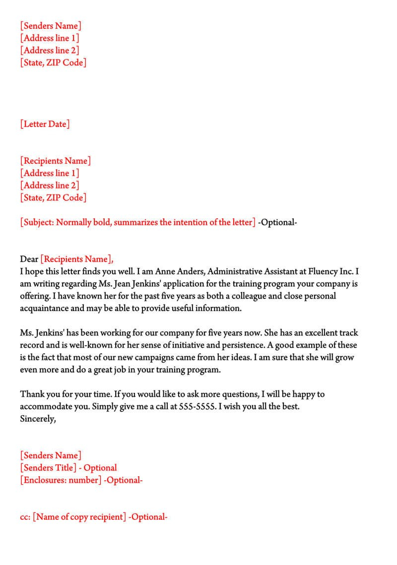 Character Reference Letter  Samples For Court Immigration Job With Regard To Example And Template For Personal Or Character Reference Letter