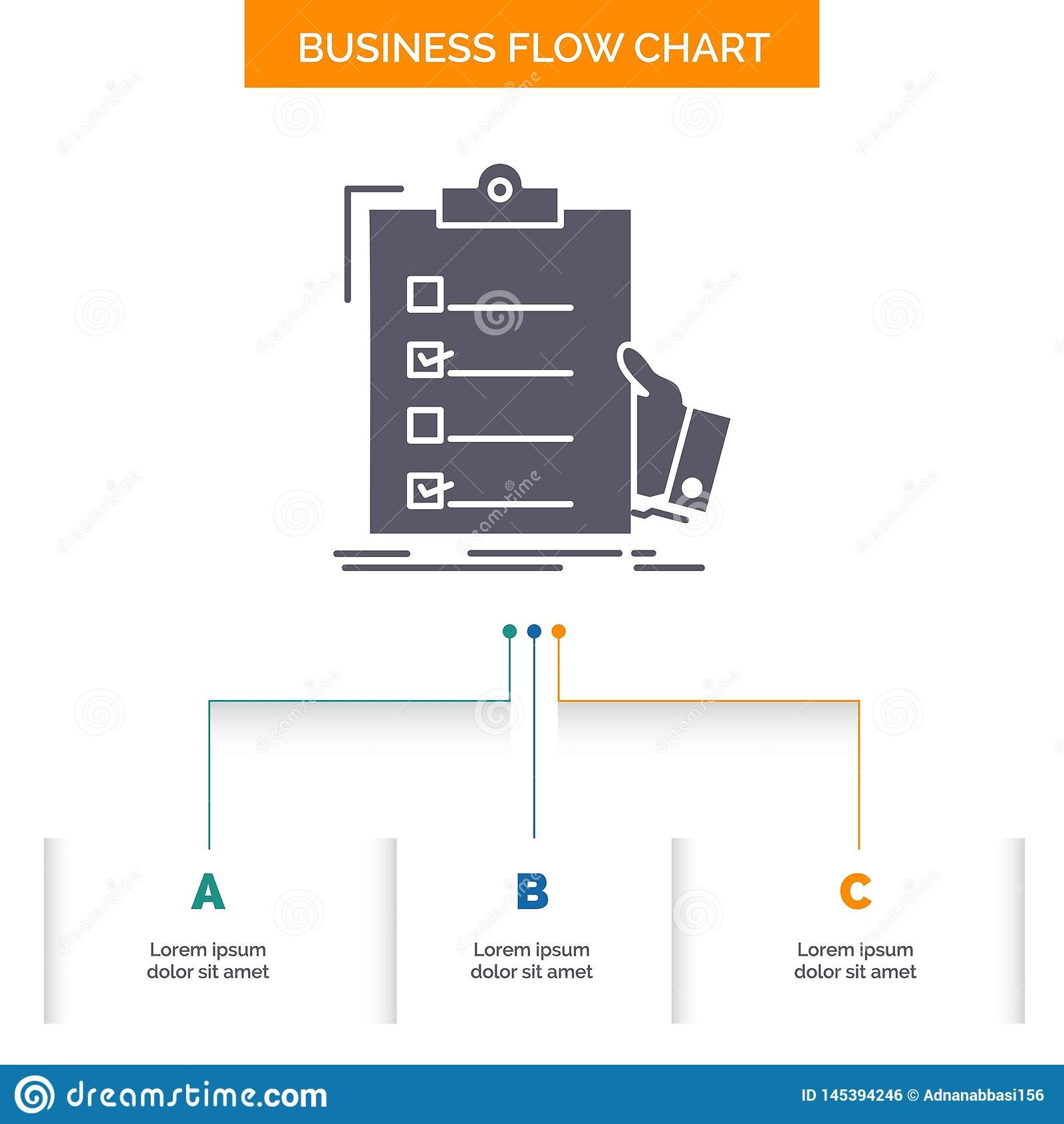 Checklist Check Expertise List Clipboard Business Flow Chart Regarding Presentation Check Template