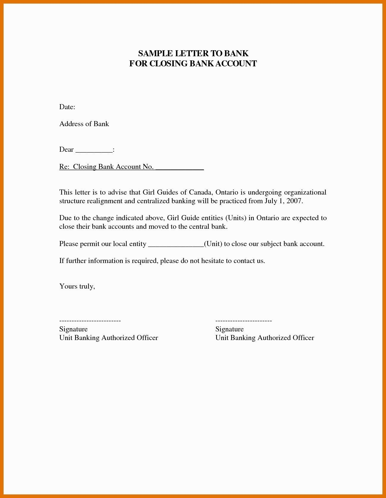 Closing Account Letter Is Closing Account Letter Any Good Inside Account Closure Letter Template